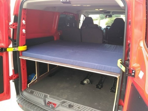 Camporan - Bed for Ford Custom with folding mattress
