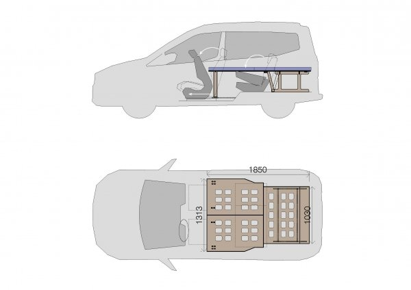Camporan - Ford Courier medidas cama