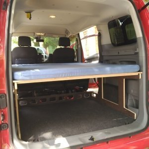 Camporan - Mattress + frame for Nissan NV200