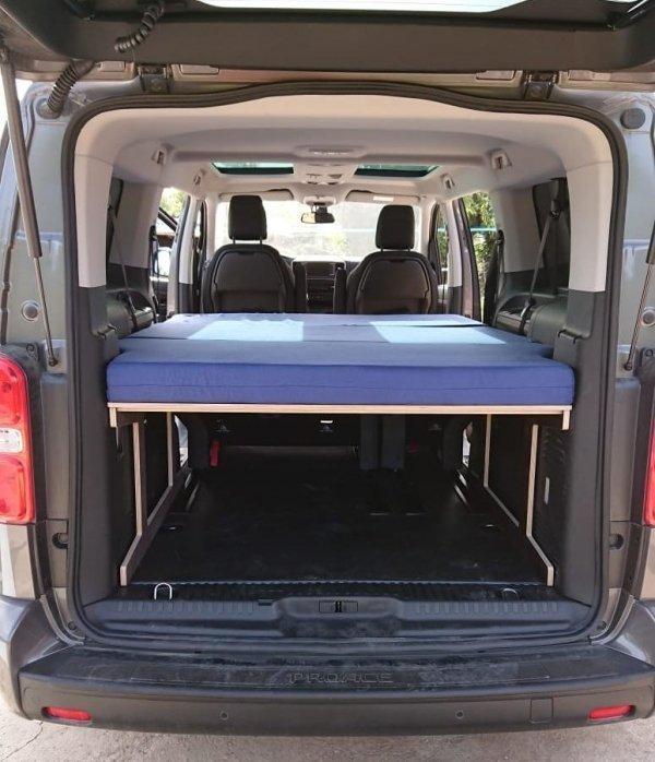 Camas para furgonetas camper. Colchón para Proace Verso, Traveller, SpaceTourer